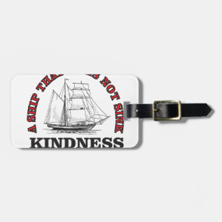 kindness boat luggage tag