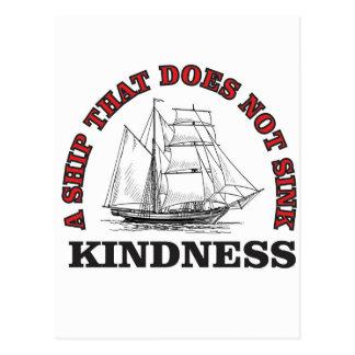 kindness boat postcard