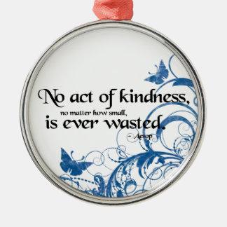 kindness butterfly swirl metal ornament