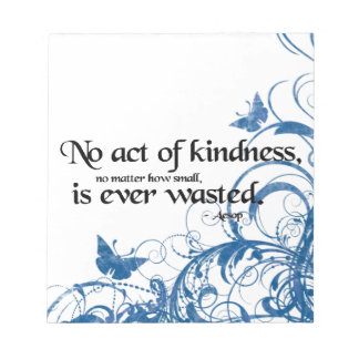 kindness butterfly swirl notepad