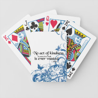kindness butterfly swirl poker deck