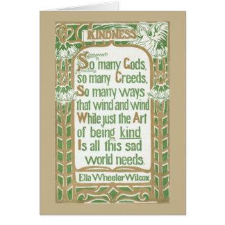 Kindness by Ella Wheeler Wilcox - tan border Card