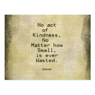 Kindness Compassion Quote Aesop Postcard