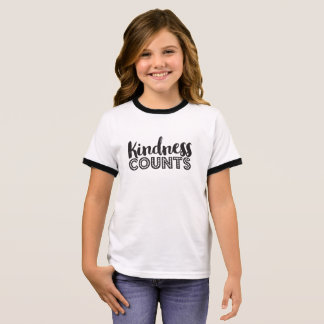 Kindness Counts Stickers Ringer T-Shirt