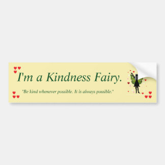 Kindness Fairy Bumper Sticker