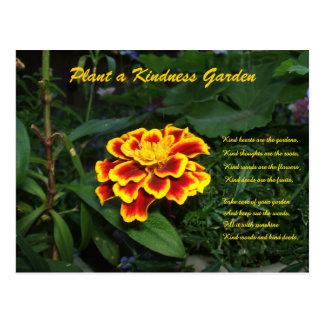 Kindness Garden Poem Postcard