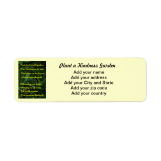 Kindness Garden Return Address Label