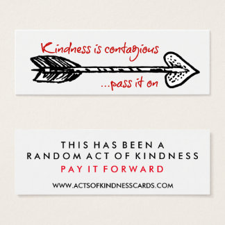 Kindness Is Contagious Random Acts Challenge Card