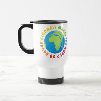Kindness Make The World Go Round - Earth Design Travel Mug