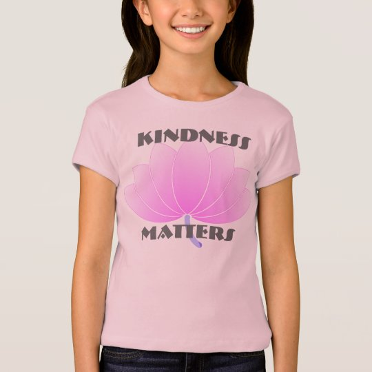 Kindness Matter Open Petals Pink Flower T-Shirt