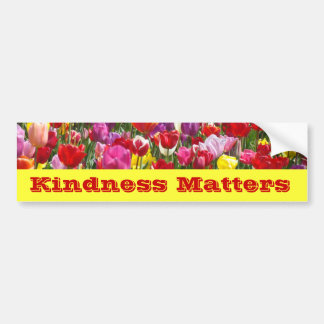 Kindness Matters bumper stickers Tulip Flowers