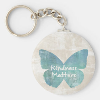 Kindness Matters Butterfly Basic Round Button Keychain
