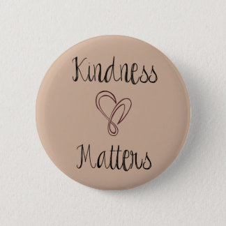 Kindness Matters Heart 2 Inch Round Button