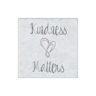 Kindness Matters Heart Stone Magnets