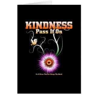 KINDNESS - Pass It On Starburst Heart Card