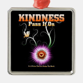 KINDNESS - Pass It On Starburst Heart Metal Ornament
