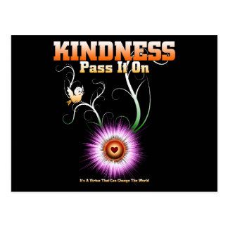 KINDNESS - Pass It On Starburst Heart Postcard