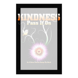 KINDNESS - Pass It On Starburst Heart Stationery