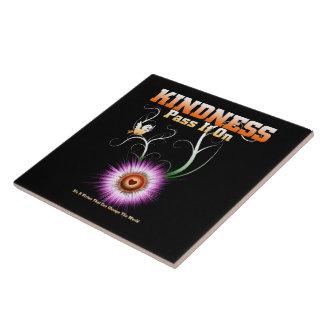 KINDNESS - Pass It On Starburst Heart Tile