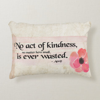 Kindness Pink Accent Pillow