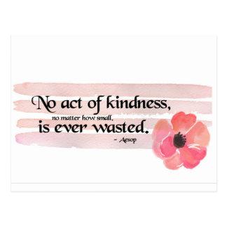 Kindness Pink Postcard