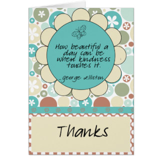 Kindness Quote Thank You Card