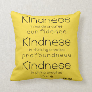 Kindness quote Throw Pillow