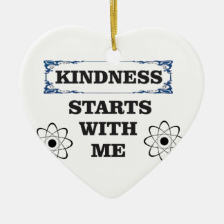 kindness starts with me ceramic ornament