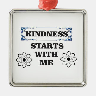 kindness starts with me metal ornament