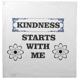 kindness starts with me napkin