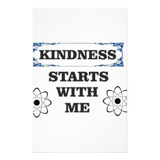 kindness starts with me stationery