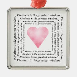 Kindness Wisdom Heart Ornament
