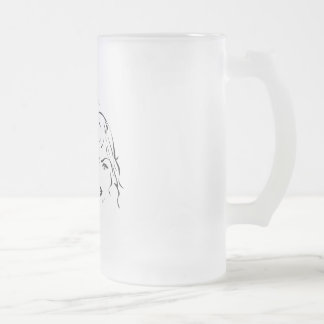 Kindra frosted glass frosted glass beer mug