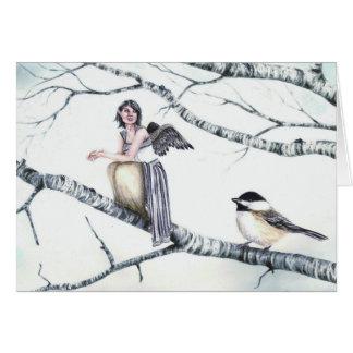 """""""Kindreds - Chickadee"""" by Deanna Bach Art Card"""