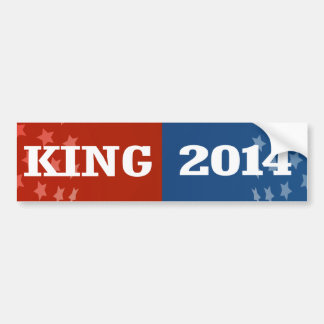 KING 2014 BUMPER STICKER