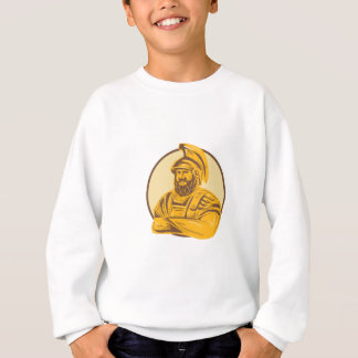 King Agamemnon Arms Crossed Circle Drawing Sweatshirt