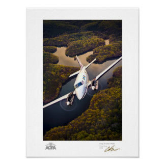 King Air Over Water Gallery Poster