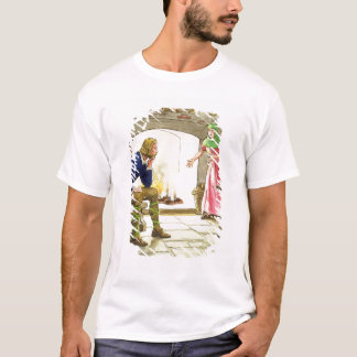 King Alfred (849-99) burning the cakes, from 'Peep T-Shirt
