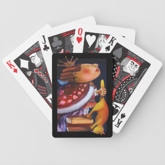 King and Cat playing cards