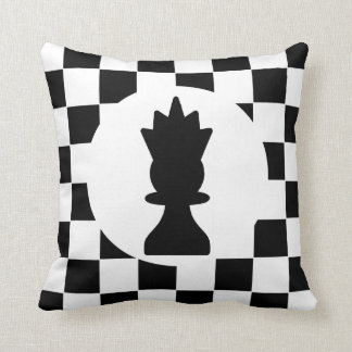 King and Queen Chess Pieces - Gift for Chess Lover Throw Pillow