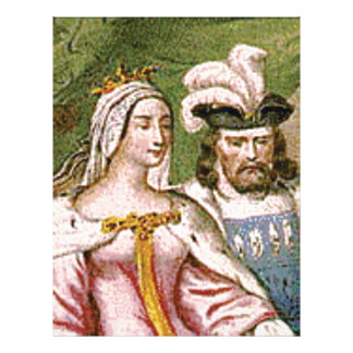 king and queen couple letterhead