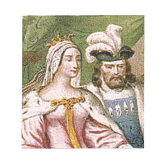 king and queen couple notepad