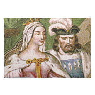 king and queen couple placemat