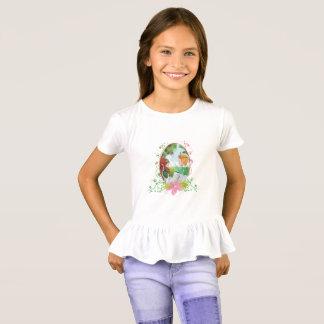 King and Queen Girls' Ruffle T-Shirt