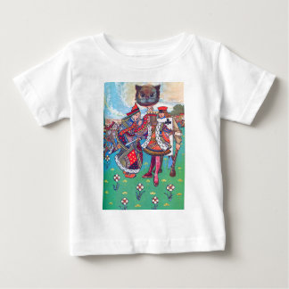King and Queen of Hearts and the Cheshire Cat Baby T-Shirt