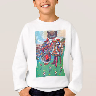 King and Queen of Hearts and the Cheshire Cat Sweatshirt