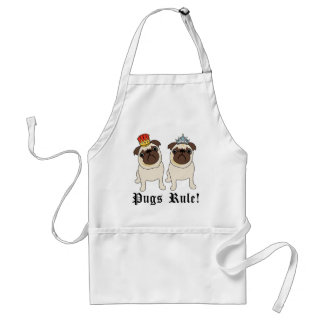 King and Queen Pug Aprons