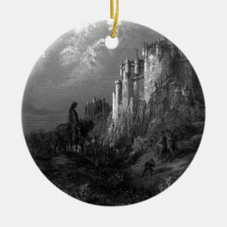 King Arthur and Camelot by Gustave Doré' 1868 Round Ceramic Ornament