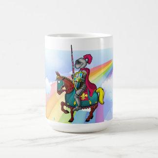 King arthur medievil knight and horse mug