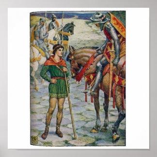 King Arthur Questions Percival Poster